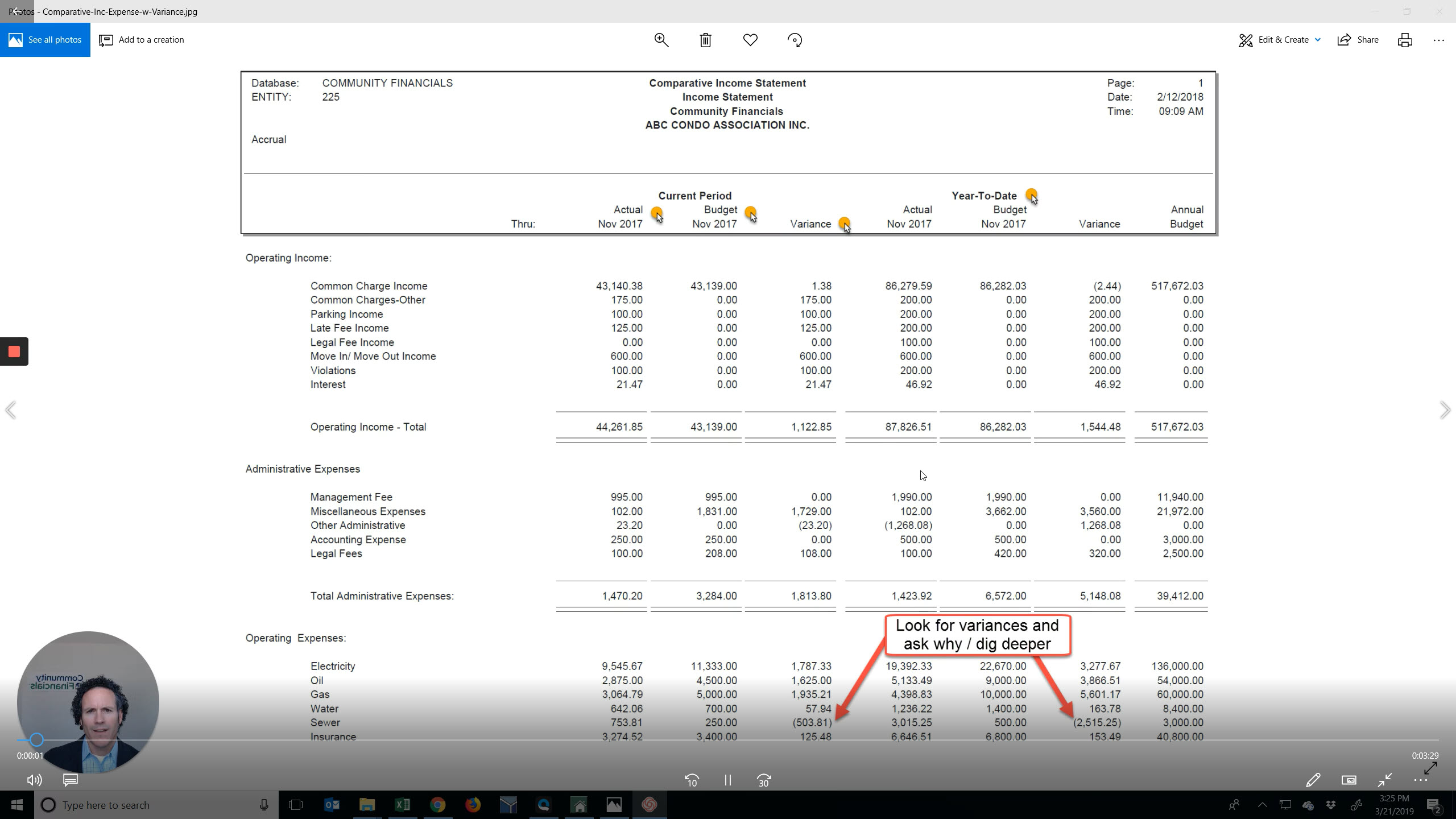Comparative Income Statement Video Thumbnail